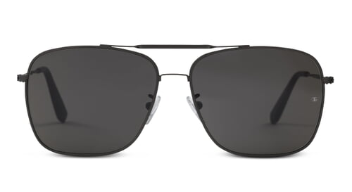 Wise Guy - Square Aviator Sunglasses with Gun Metal Frame